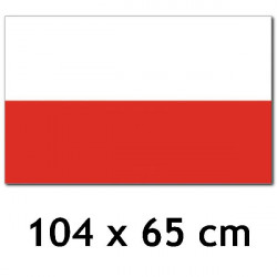 UW - FLAGA POLSKI - 104 x...